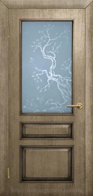 межкомнатные двери Верона стекло с травлением ТМ ОМИС