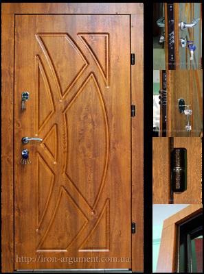 двери входные ПРЕМИУМ в цвете дуб золотой, модель двери Б-2
