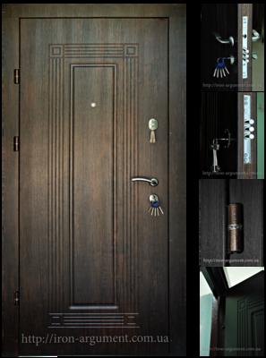 двери входные ПРЕМИУМ в цвете тиковое дерево, модель Б-263