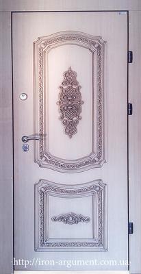 входные двери ПАТИНА с ЛЕПНИНОЙ в цвете белый венге, модель БЛ-1