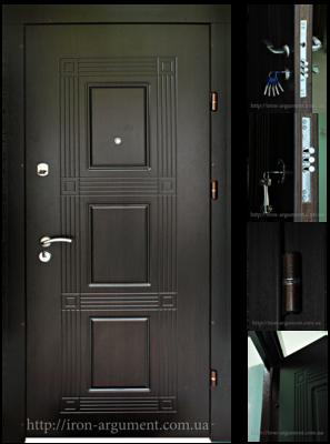 двери входные ПРЕМИУМ в цвете венге темный, модель Б-262