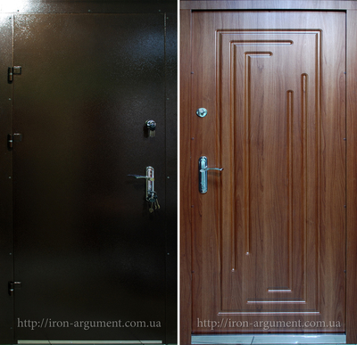 бронированные двери ЭЛИТ-ОФИС в цвете слива луиза, модель Б-16