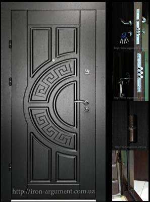 двери входные ПРЕМИУМ в цвете венге темный, модель Б-18