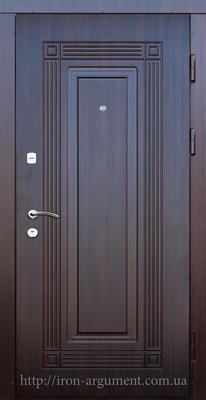 двери входные ПРЕМИУМ в цвете орех темный, модель Б-263
