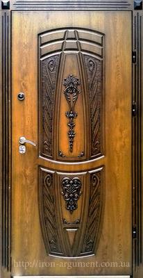 Входные двери наружные ПАТИНА С ЛЕПНИНОЙ в цвете Vinorit-90, модель БЛ-15