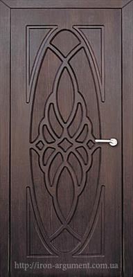 межкомнатные двери ОРХИДЕЯ глухие ТМ Неман, тиковое дерево