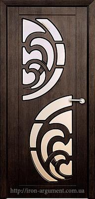 межкомнатные двери ПРИБОЙ со стеклом ТМ Неман, тиковое дерево
