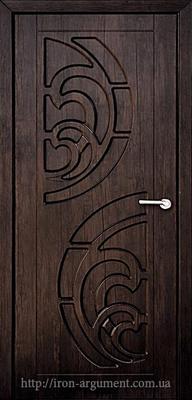 межкомнатные двери ПРИБОЙ глухие ТМ Неман, тиковое дерево
