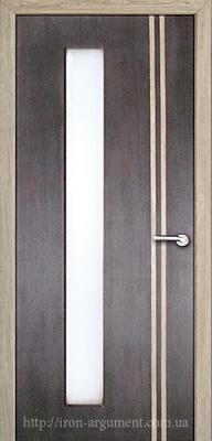 межкомнатные двери ВЕНА ТМ Неман со стеклом, тиковое дерево