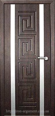 межкомнатные двери РИМ глухие ТМ Неман, тиковое дерево