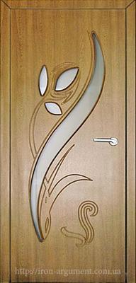 межкомнатные двери со стеклом ТЮЛЬПАН, цвет: дуб зол.