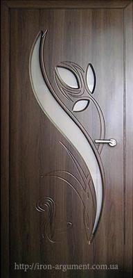 межкомнатные двери со стеклом ТЮЛЬПАН, цвет: орех шок.