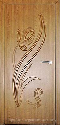 межкомнатные двери ТЮЛЬПАН глухие ТМ Неман, дуб золотой