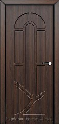 межкомнатные двери АРКАДИЯ глухие ТМ Неман, орех шоколадный