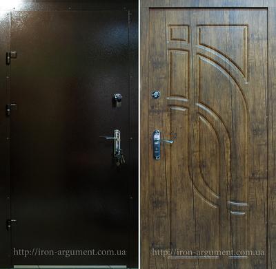бронированные двери ЭЛИТ-ОФИС в цвете дуб антик, модель Б-196