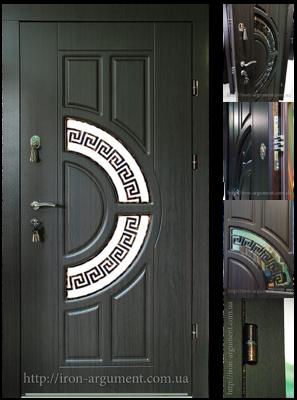 двери входные ЭЛИТ с ковкой-4 в цвете Vinorit- 20, модель Б-18