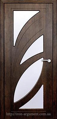 межкомнатные двери ПАЛЬМИРА со стеклом ТМ Неман, тиковое дерево