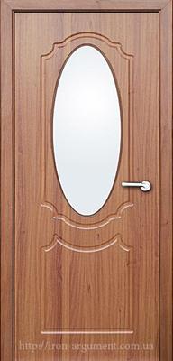 межкомнатные двери ЗЕРКАЛО со стеклом ТМ Неман, орех светлый