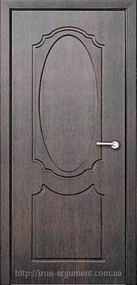 межкомнатные двери ЗЕРКАЛО глухие ТМ Неман, тиковое дерево