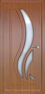 межкомнатные двери САБРИНА со стеклом ТМ Неман, дуб золотой