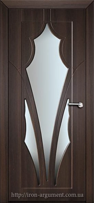 межкомнатные двери АФИНА со стеклом ТМ Неман, орех шоколадный