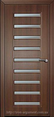 межкомнатные двери АВРОРА со стеклом ТМ Неман, орех шоколадный