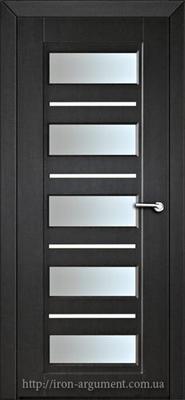 межкомнатные двери со стеклом РОКСАНА, цвет: венге темный