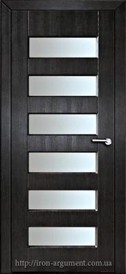 межкомнатные двери ГАММА со стеклом ТМ Неман, венге южный