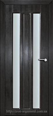 межкомнатные двери ДУОС со стеклом ТМ Неман, венге южный