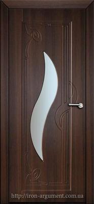 межкомнатные двери ЛИРА со стеклом ТМ Неман, орех шоколадный