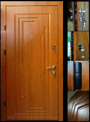двери входные ПРЕМИУМ в цвете дуб золотой, модель двери Б-16