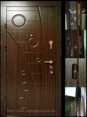двери входные ПРЕМИУМ в цвете темный орех, модель Б-257