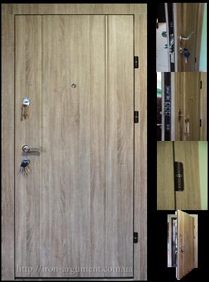 двери входные ПРЕМИУМ в цвете сонома темная, модель Б-85