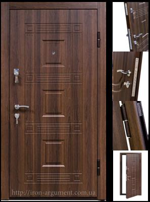 Входные двери КОРДОН в цвете орех белоцерковский, модель двери: 802