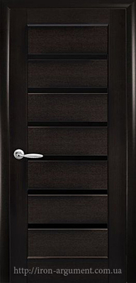 межкомнатные двери ТМ Новый Стиль, модель двери: ЛИННЕЯ BLK (черное стекло)