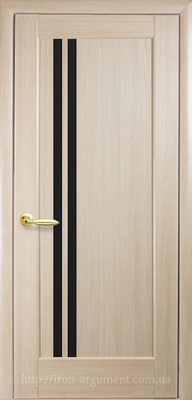 межкомнатные двери ТМ Новый Стиль, модель двери: ДЕЛЛА BLK (черное стекло)
