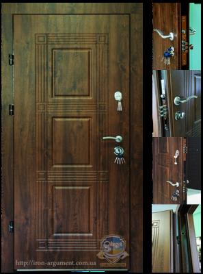 двери входные наружные МОНОЛИТ в цвете Vinorit-02, модель Б-262
