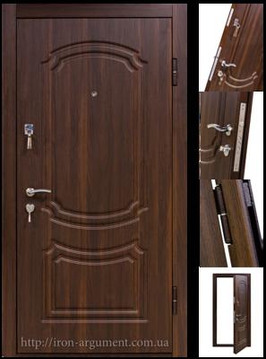 Входные двери КОРДОН в цвете орех мореный, модель двери: 801